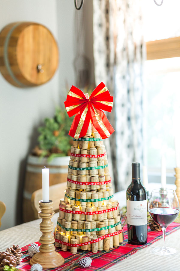 Diy Wine Cork Christmas Tree Kendall Jackson