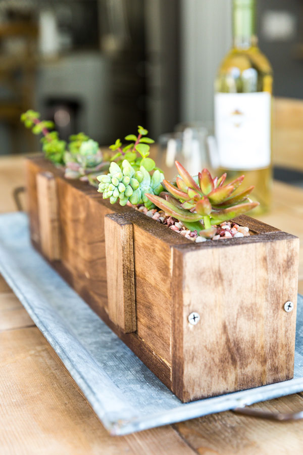 This easy-to-make DIY wood succulent planter is the perfect way to bring the outdoors in throughout these beautiful spring and summer months ahead.