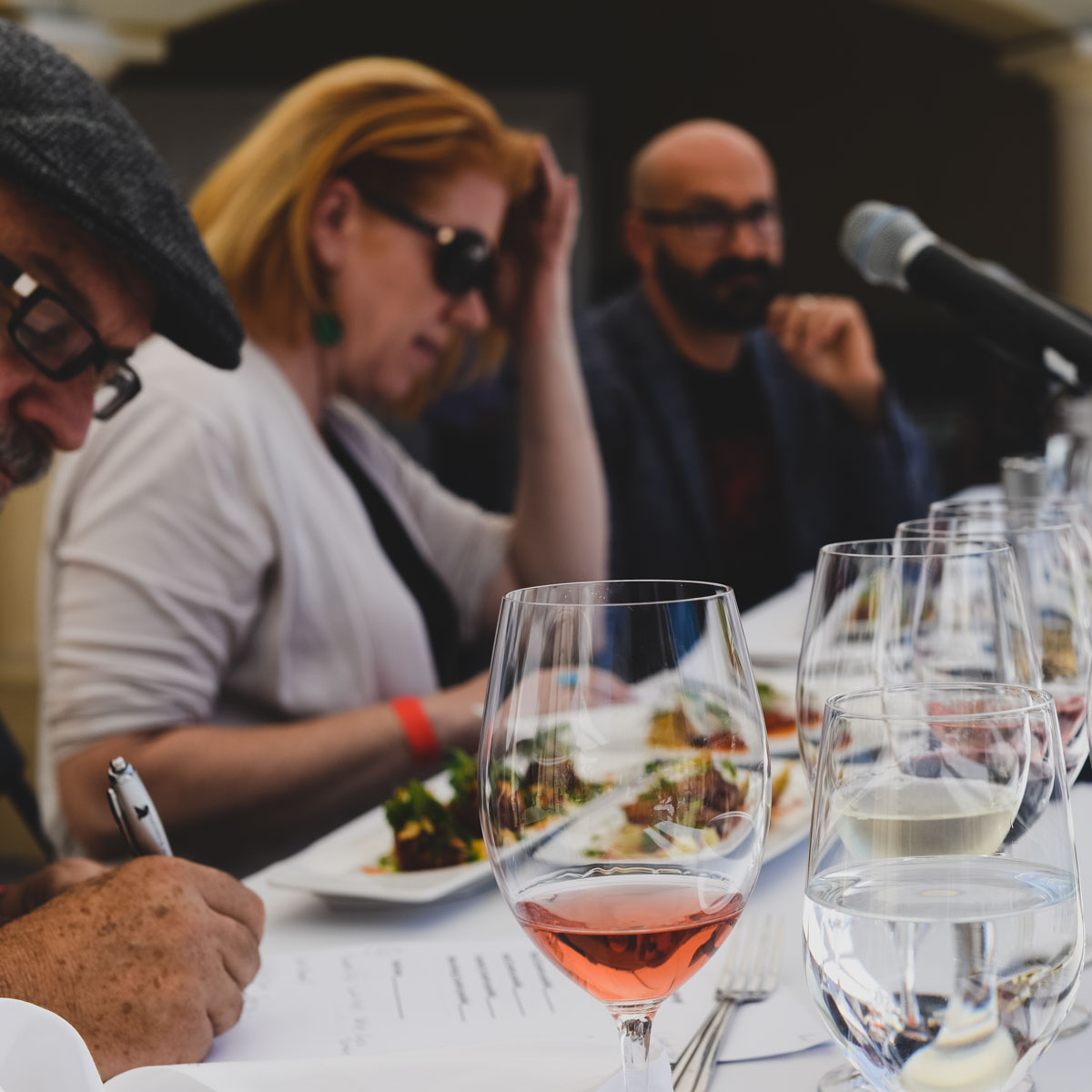 Judges tasting dishes