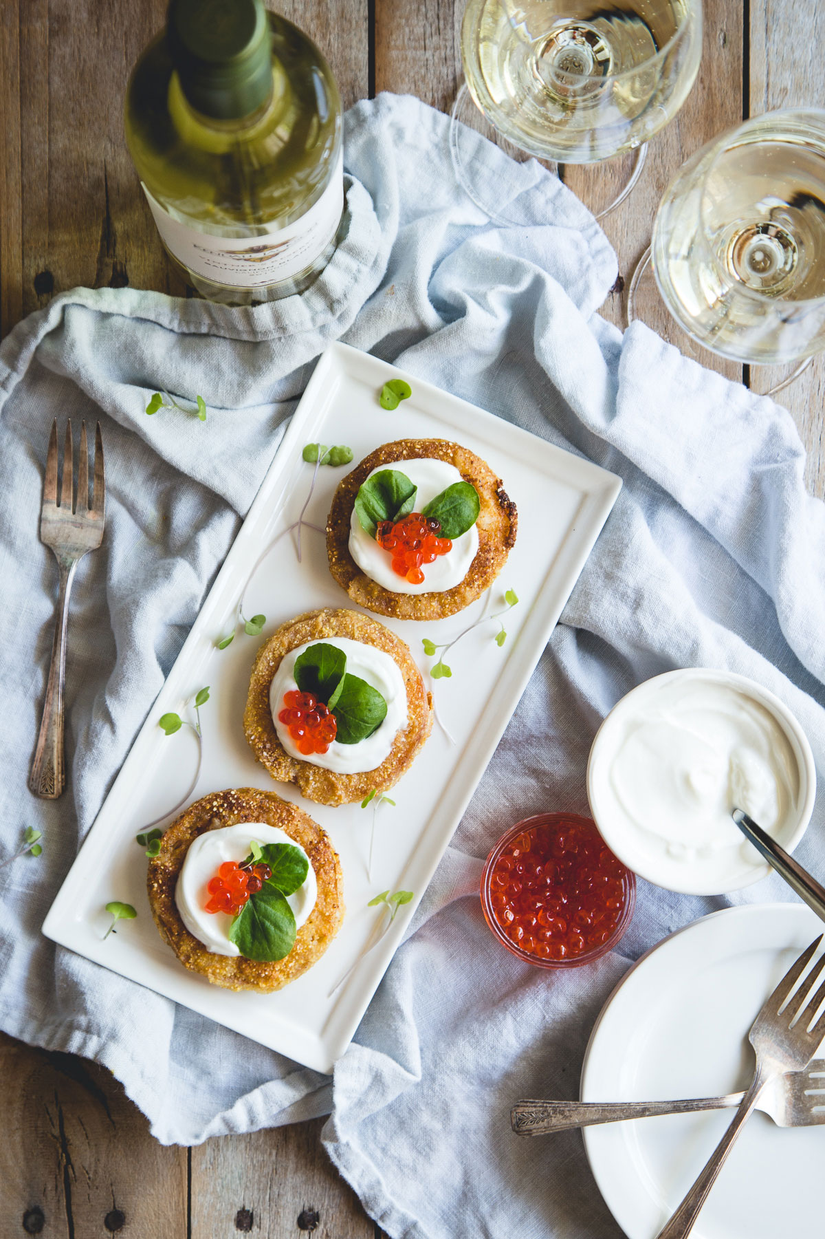 Want to make this classic even better? Try pairing this fried green tomatoes with fromage blanc with our Kendall-Jackson Sauvignon Blanc!