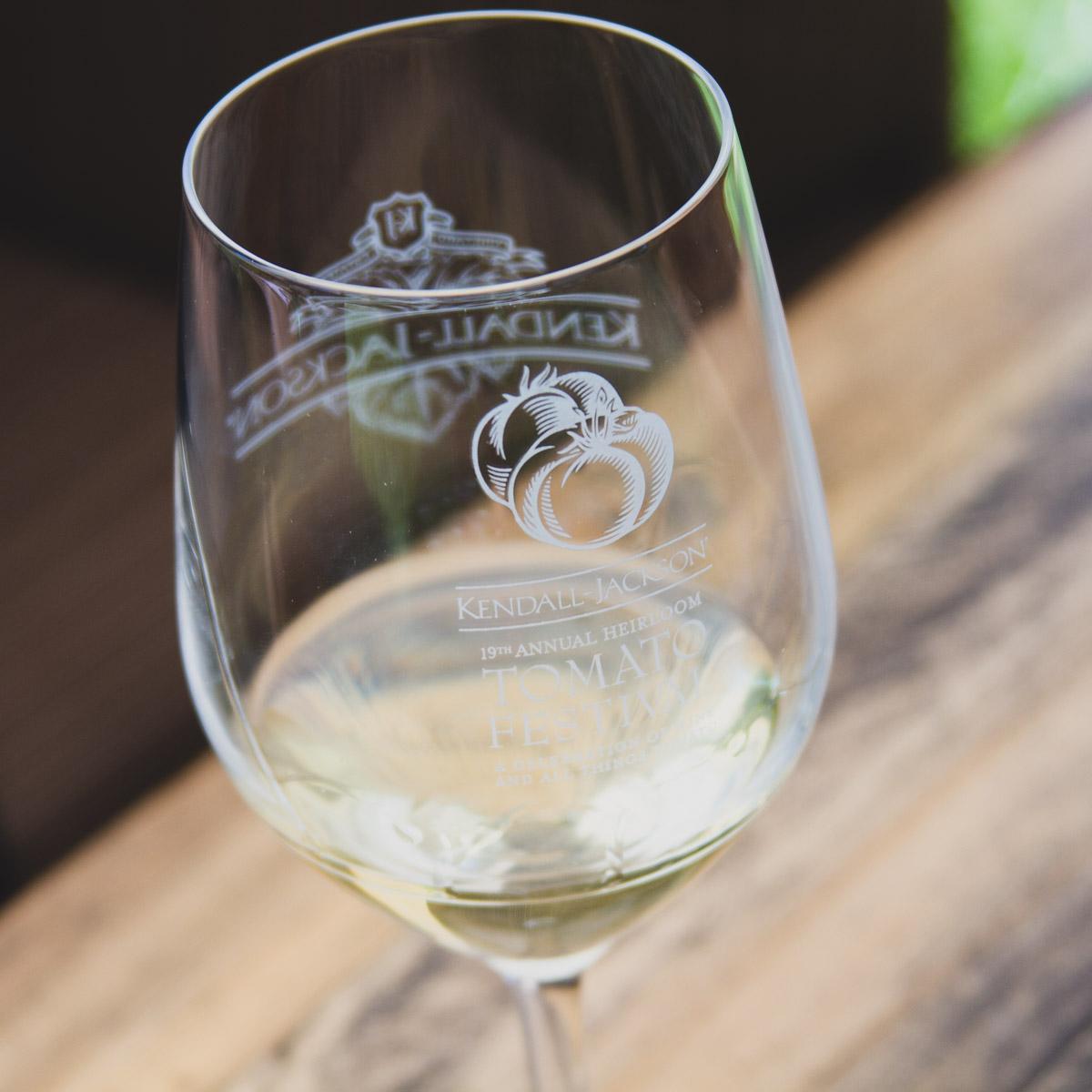 Crisp white wine