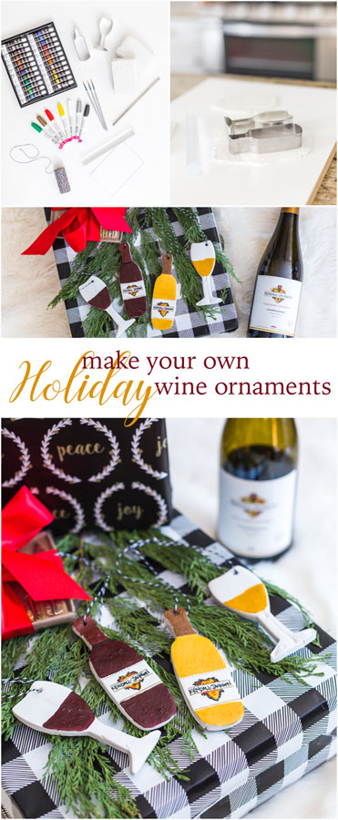 Get in the festive spirit of the season by embracing your crafty side and make your own holiday wine ornaments. They're great on the tree or as gift tags.