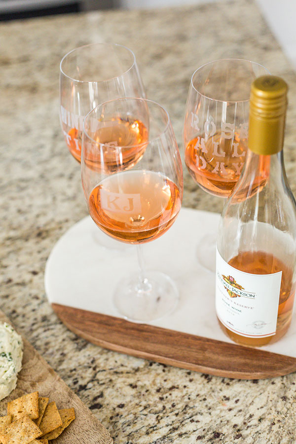 Kendall-Jackson-Wines-DIY-Personalized-Wine-Glasses-bottle-rosé