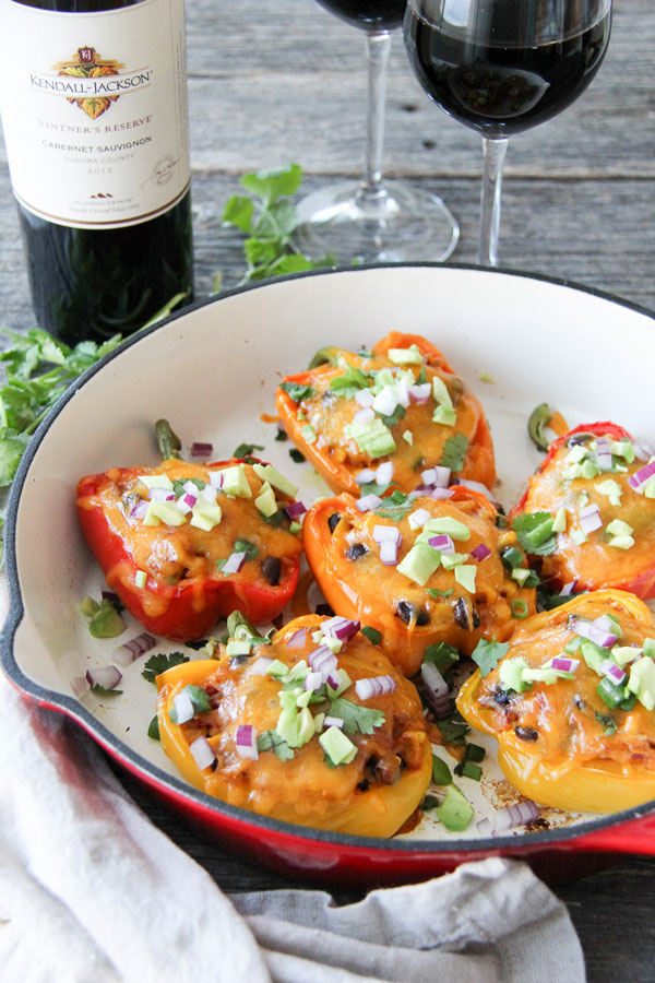 Create these vegetarian stuffed peppers and serve them up as a main dish for dinner, or as a side dish — they're hearty, healthy and really tasty.