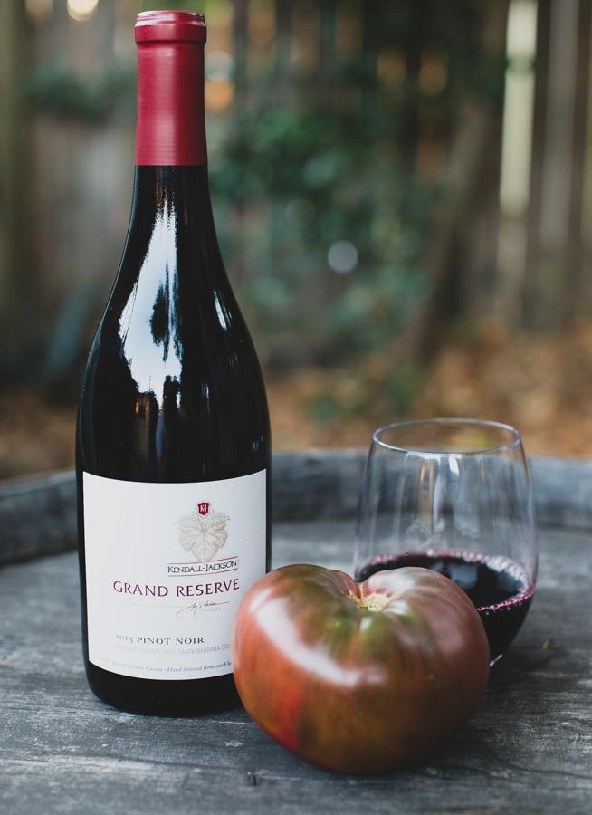 Black Krim Tomato and Kendall-Jackson Grand Reserve Pinot Noir