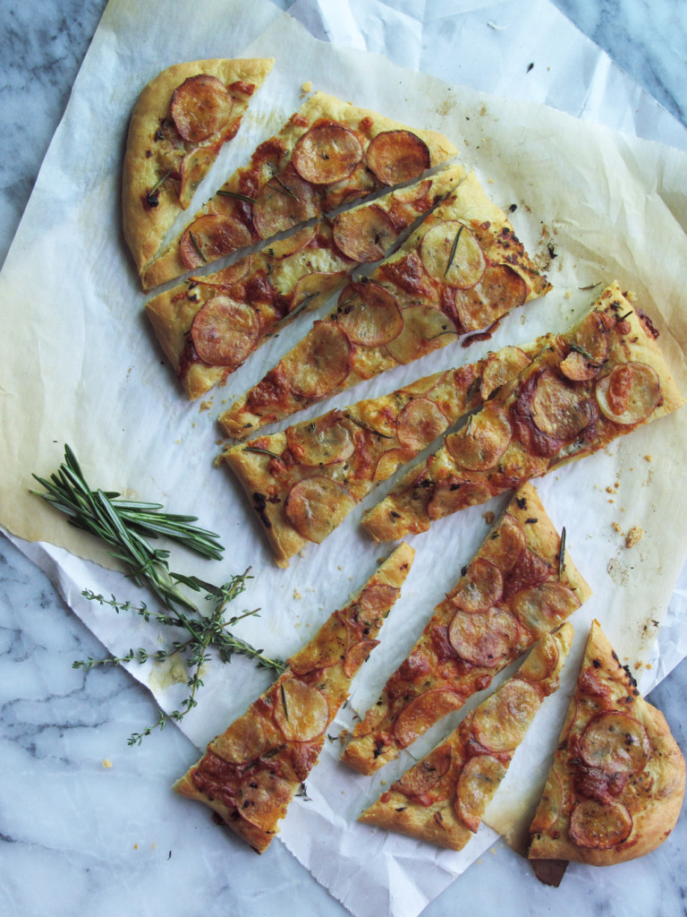 Potato Rosemary Pizza / Recipe by The Sweet Escape for Kendall-Jackson