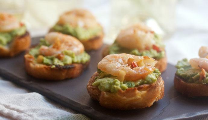 Shrimp & Avocado Crostini Recipe