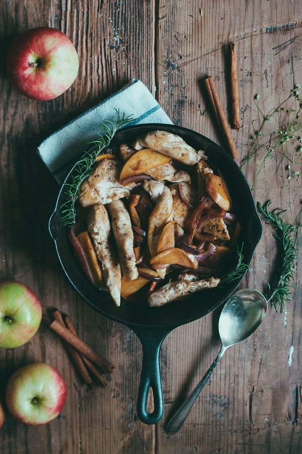 Chicken with Apples and Chardonnay Recipe