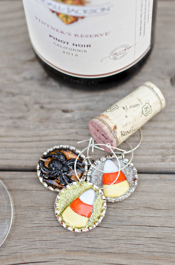 DIY Halloween Wine Charms