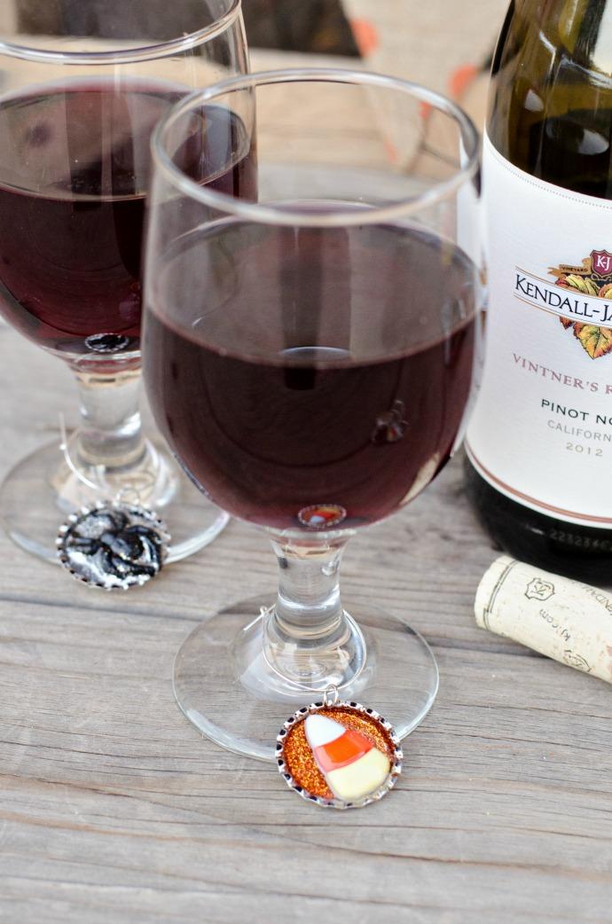 DIY Halloween Wine Charms