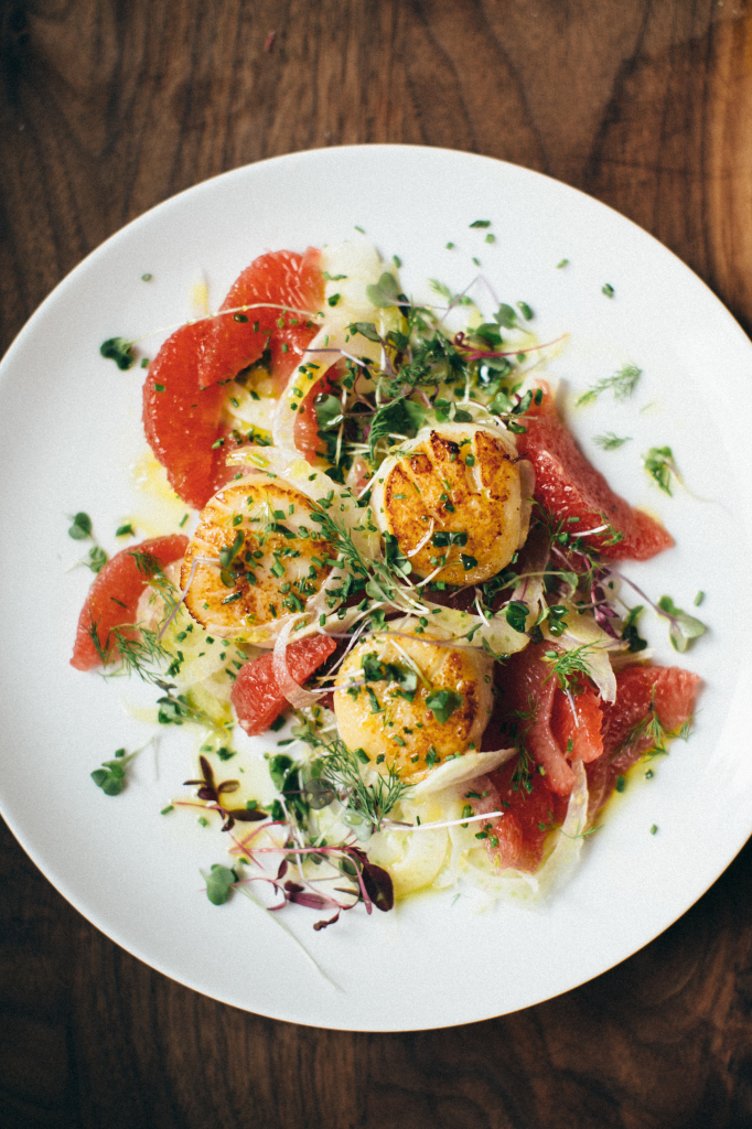 Seared Scallops, Shaved Fennel and Grapefruit Recipe #KJAVANT