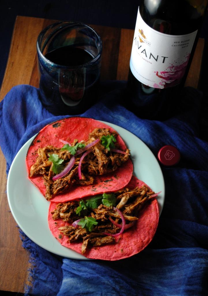 Slow Cooker Mole Tacos Recipe #KJAVANT