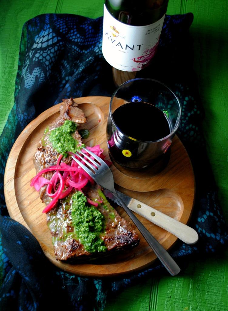 Skirt Steak with Chimichurri Sauce Recipe from the Kendall-Jackson Blog #KJAVANT