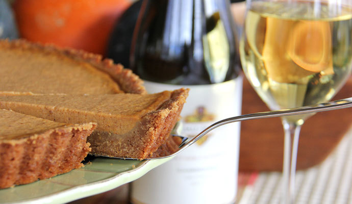 Pumpkin Tart with a Gingersnap Cookie Crust Recipe