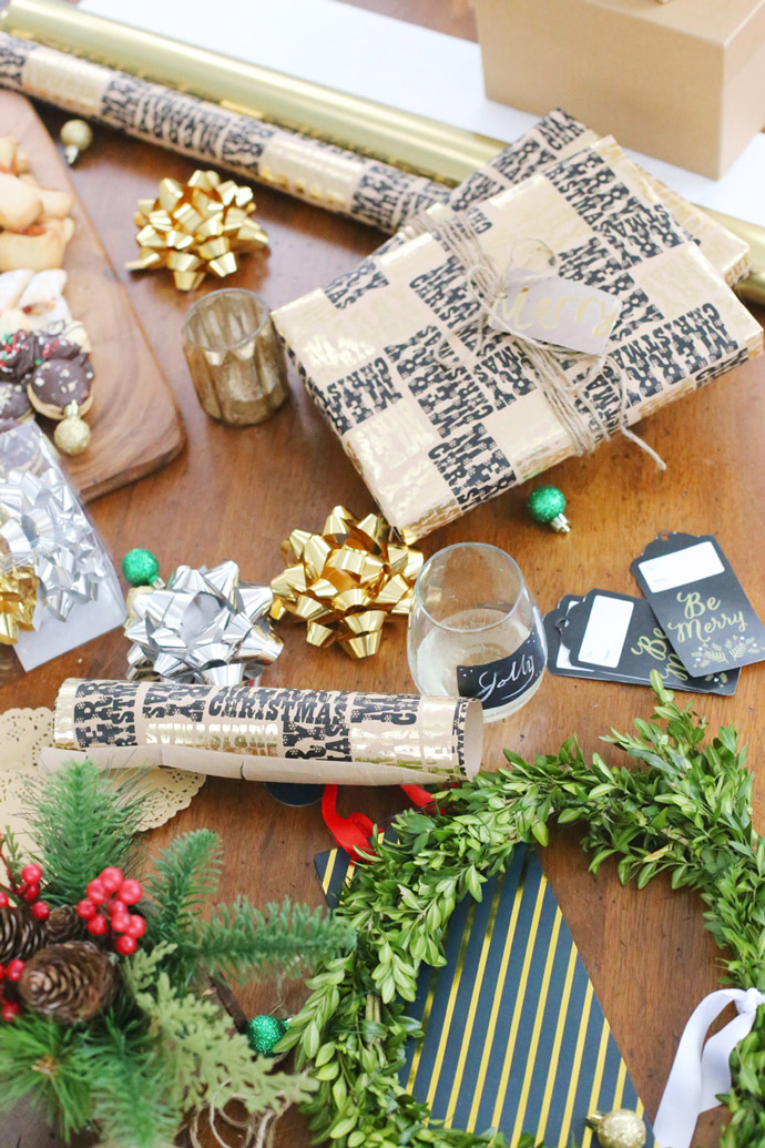 Gift Wrapping Party with Free Printables