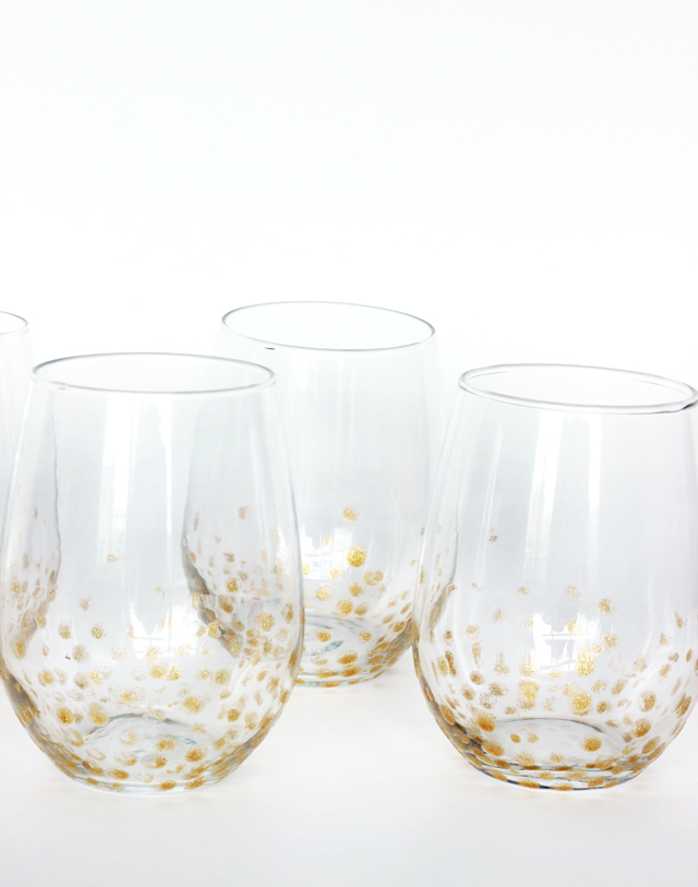 DIY Gold Glam Glasses for New Years Eve
