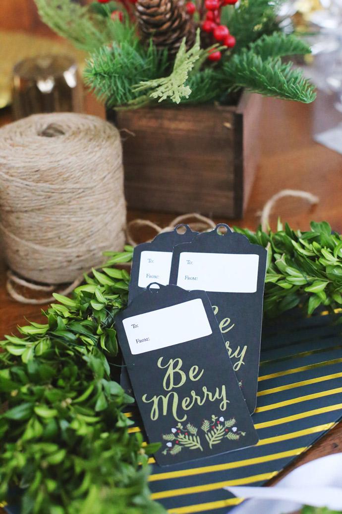 DIY Printable Holiday Gift Wrap + Tags