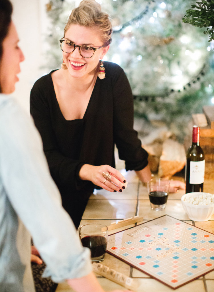 Gather some girlfriends or invite a few couples over for a wintery battle of the boardgames, complete with appetizers, some good wine, a little bit of friendly competition, and lots of laughs! #KJAVANT