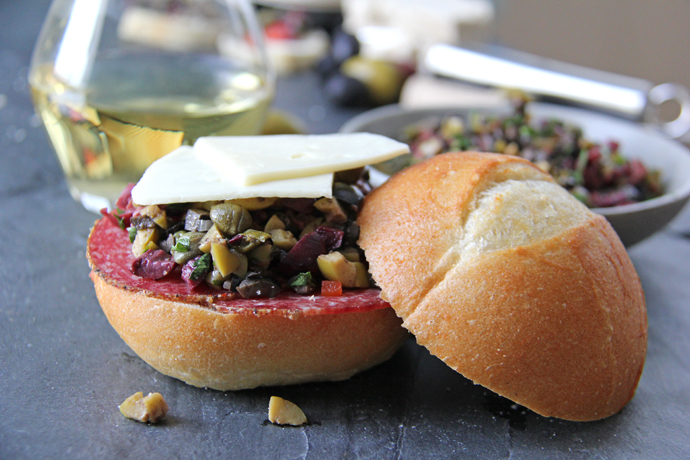 Olive Tapenade Sandwiches