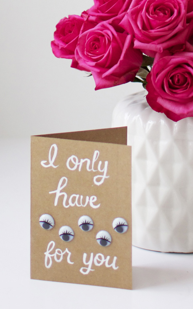 "DIY ""I Only Have Eyes For You"" Valentine Card"