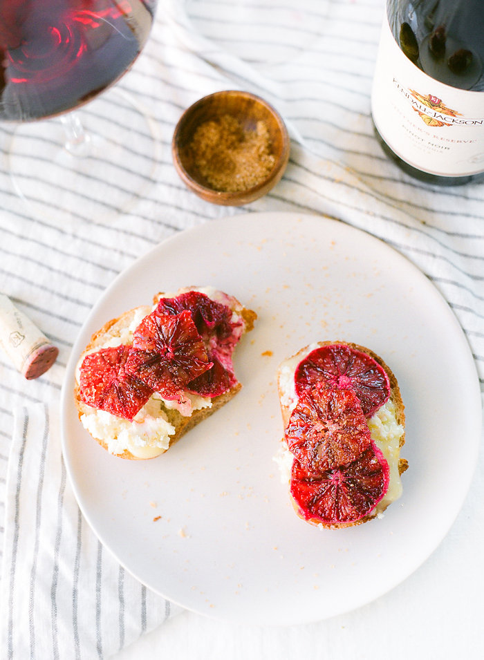 Meet the final Crostini pairing in our mini-series - The Caramelized Blood Orange & Montchevré Crostini! #Recipe