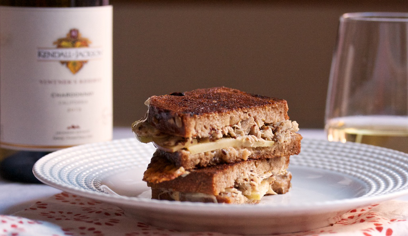 Honey Mustard Chicken and Apple Grilled Cheese