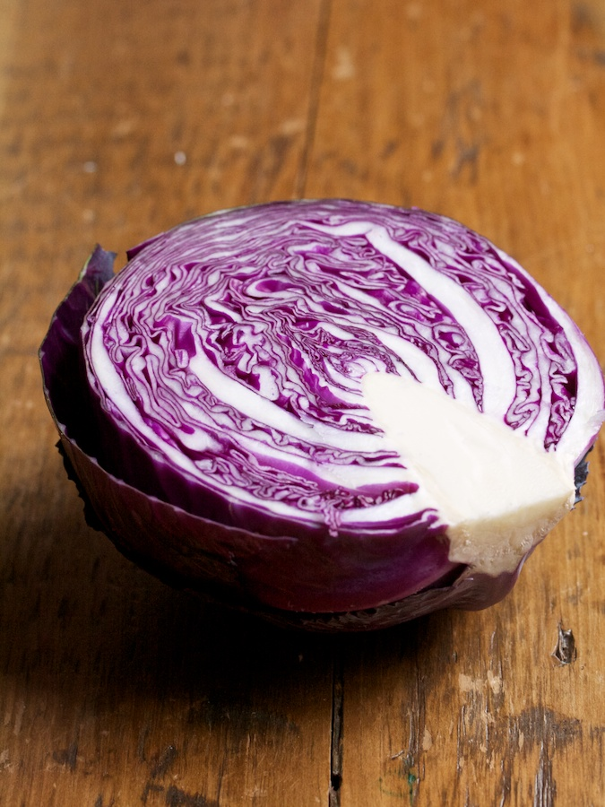 Red Cabbage Toasts for St. Patrick's Day