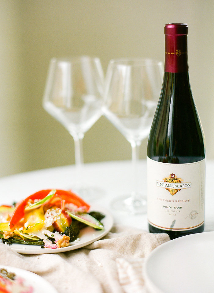 Stroll down the veggie aisle and celebrate this warmer weather with a dish that tastes as wonderful as Spring-time feels. Pair it with a beautiful glass of the Vintner's Reserve Pinot Noir and you might run out and plant a garden, you love life so much. #Recipe