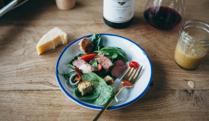 Steak Salad with Honey Dijon Dressing - a recipe that's perfect for summer grill parties.