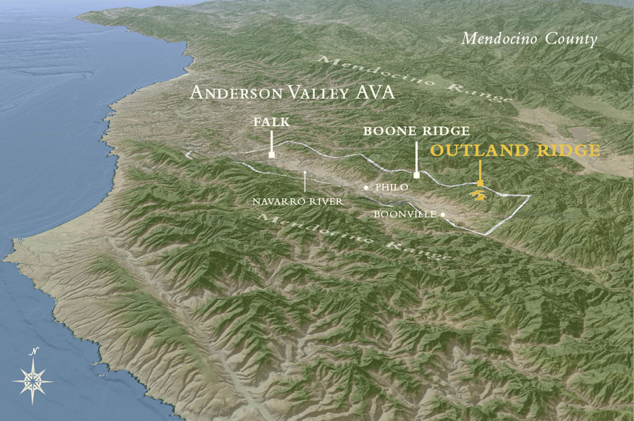 Anderson Valley AVA Map