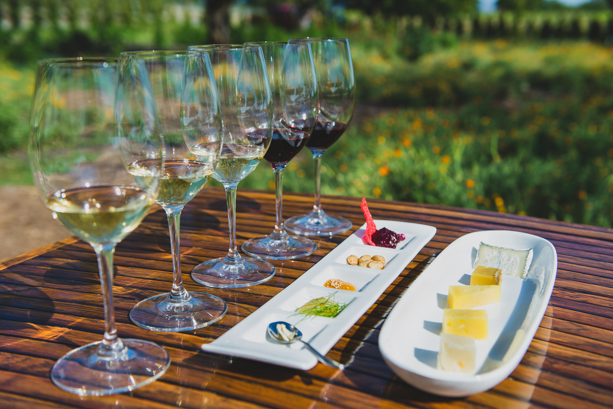 Kendall-Jackson Wine Estate and Gardens cheese and wine pairing