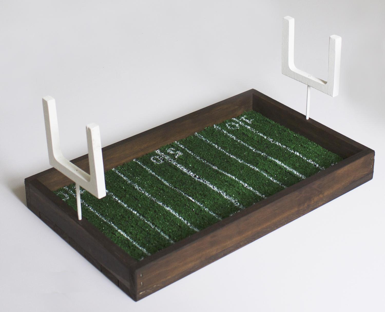 DIY Football Field Serving Tray