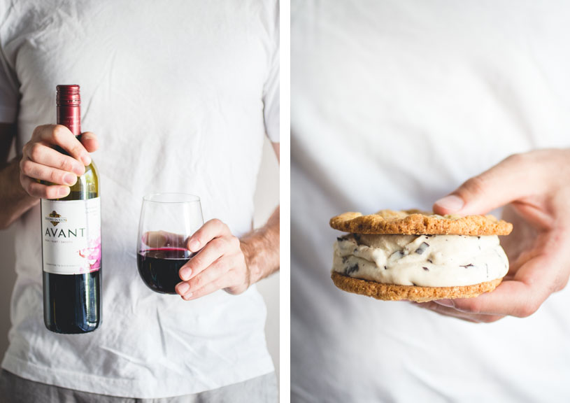 These S'mores Ice Cream Sandwiches are a slightly more grown up version that compliment the Kendall-Jackson AVANT Red Blend wine perfectly. #KJAVANT