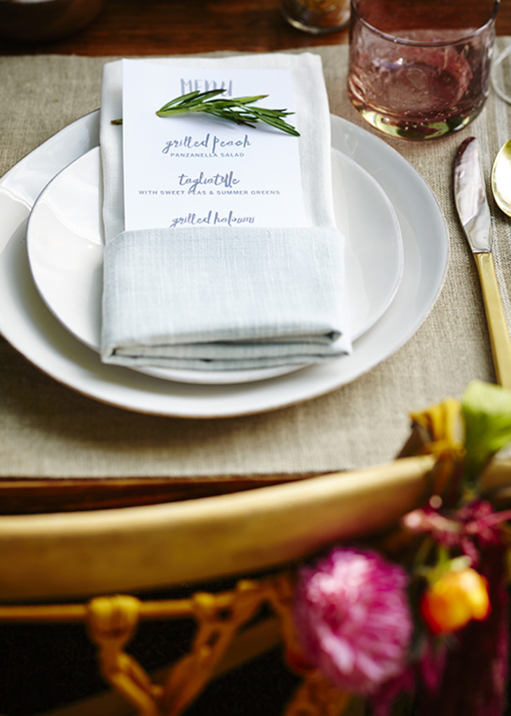 SUmmer dinner party menu
