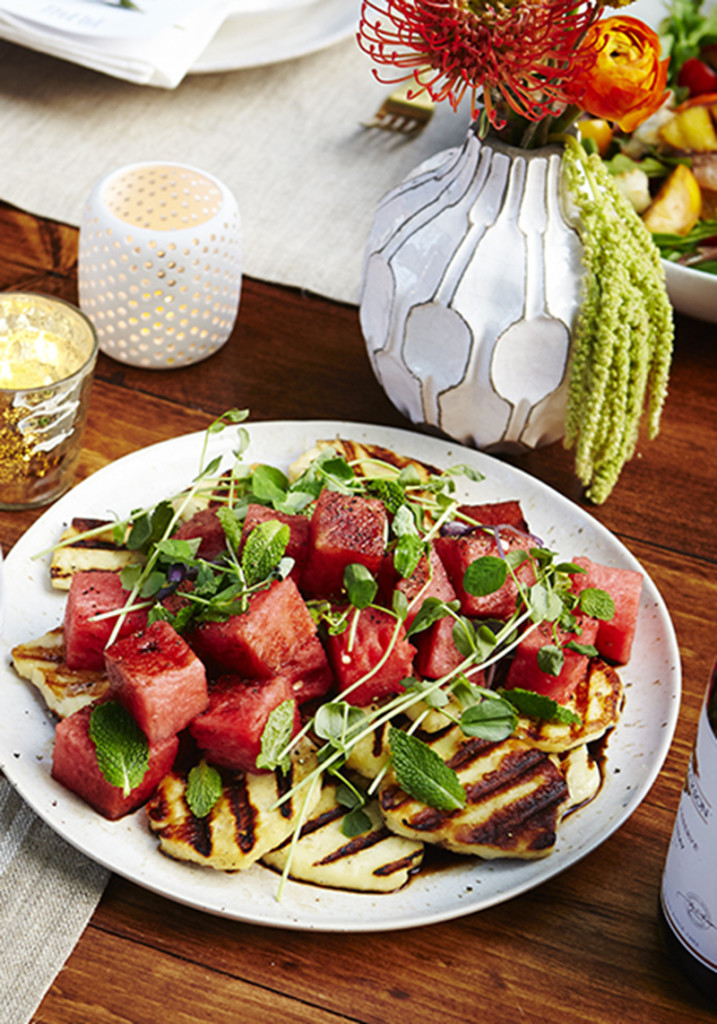 Grilled Haloumi and Watermelon Salad