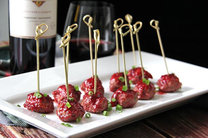 Turkey Meatballs with Cranberry Glaze