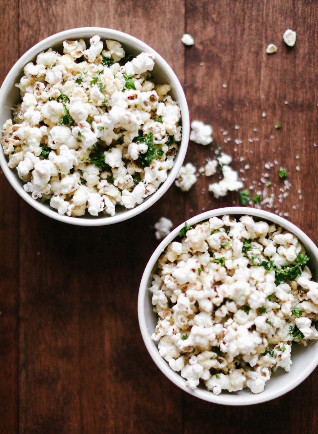 Everyone loves a good bowl of popcorn during a movie, so why not fancy it up a bit and serve some options. The Parmesan & Parsley popcorn is perfect for your
