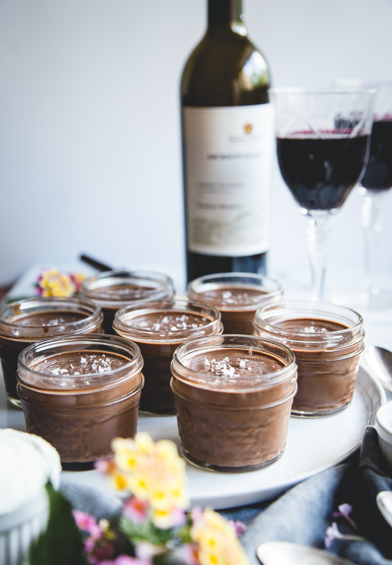 Salted Dark Chocolate Pots de Cr me