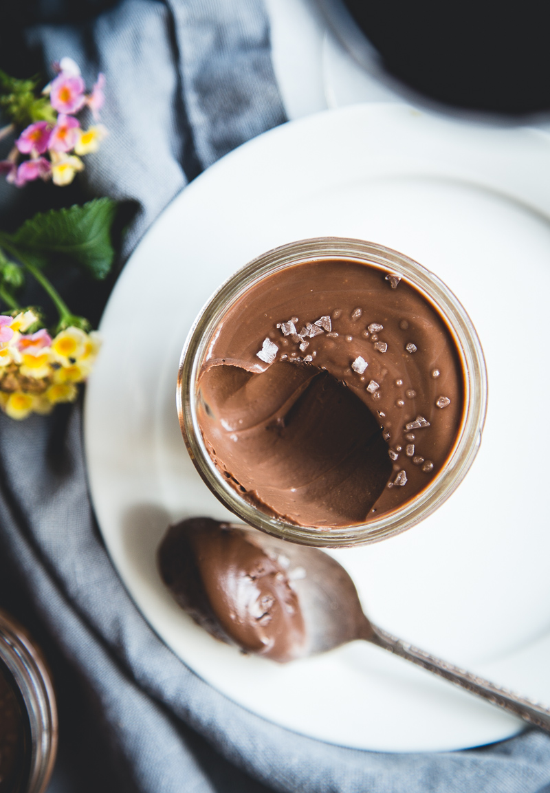 Salted Dark Chocolate Pots de Cr me