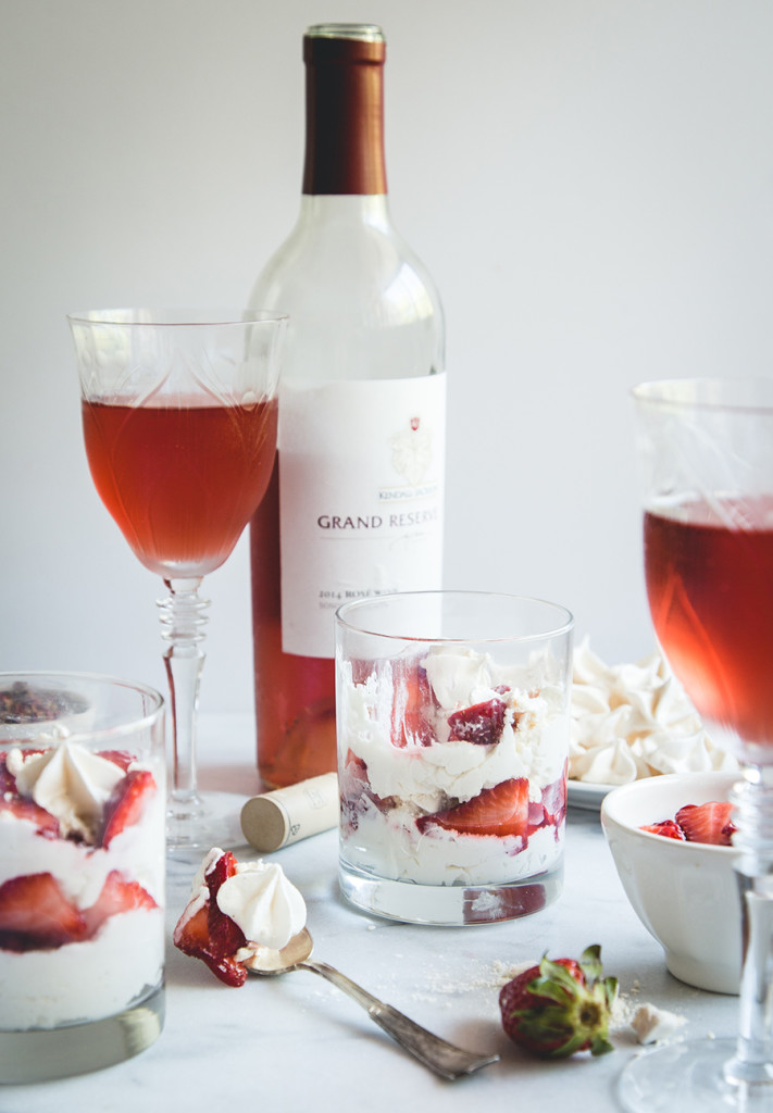 Serve this Strawberry Rose Eton Mess at your next dinner party alongside a perfectly chilled bottle of Kendall-Jackson Grand Reserve Rosé and it's sure to impress, guaranteed.