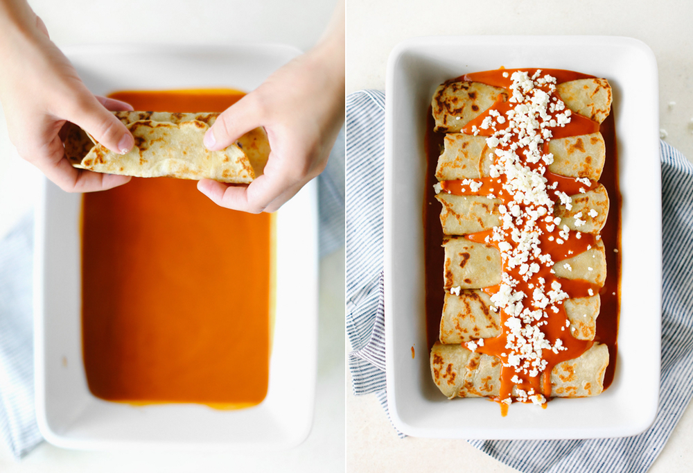 These Goat Cheese Enchiladas are easy to make, can feed an army and are great for leftovers.