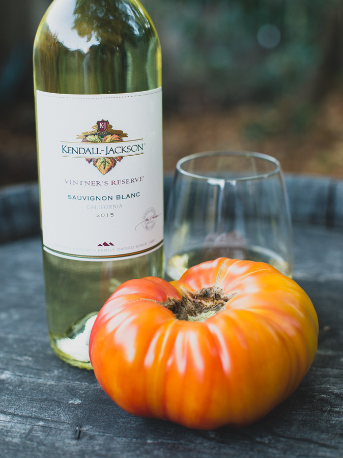 Hawaiian Pineapple Tomato and Kendall-Jackson Vintner's Reserve Sauvignon Blanc