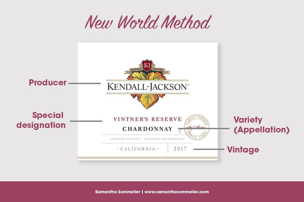 Kendall-Jackson New World Wine Label Infographic