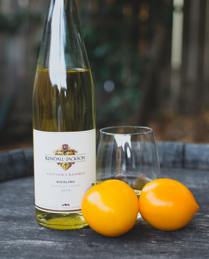 Lemony (Limmony) Tomato and Kendall-Jackson Vintner's Reserve Riesling