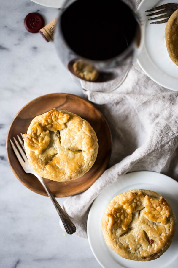 Chicken pot pie with delicious buttermilk rosemary crust.