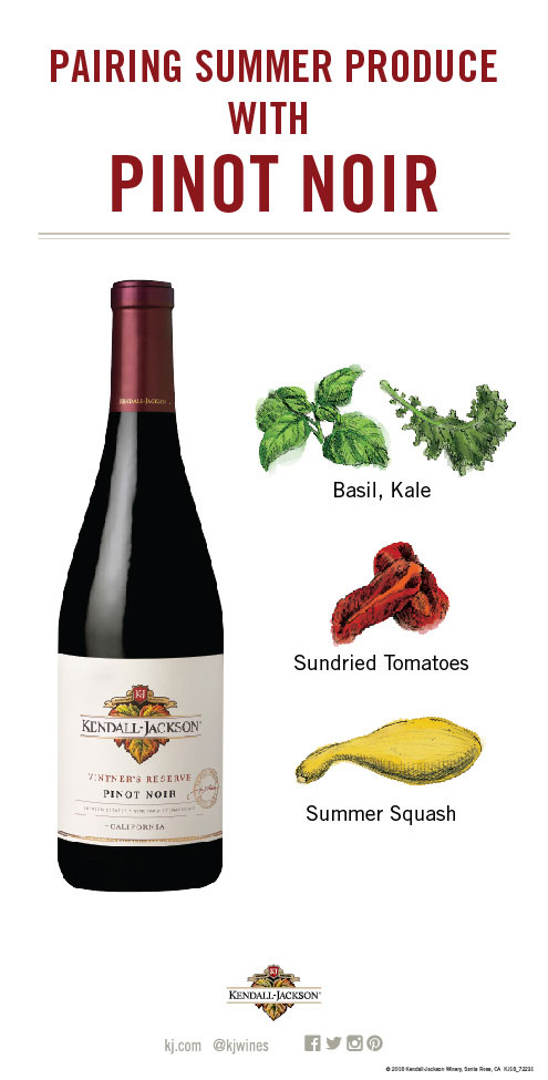 Pairing Summer Fruits and Vegetables with Pinot Noir Wine
