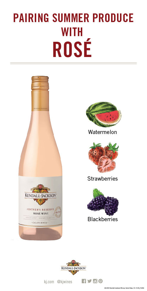 Pairing Summer Fruits and Vegetables with Rosé Wine