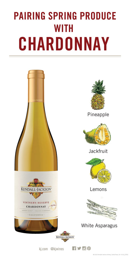 Pairing Wines with Spring fruits and vegetables with Chardonnay