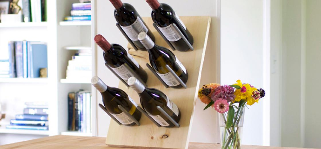 Wine bottles are definitely pretty enough to be displayed, and this way it'll be easy to keep track of what wine you have on hand! #DIY #KJAVANT