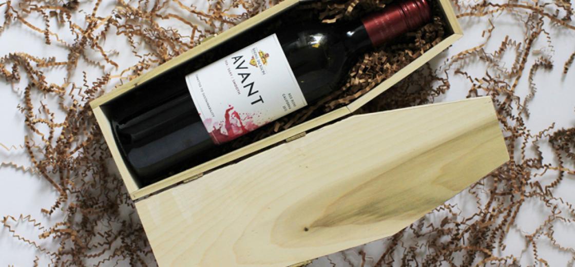 diy wine coffin for halloween